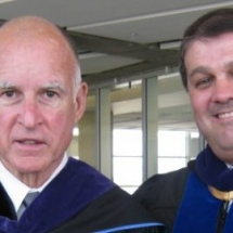 Governor Jerry Brown and Ed Abeyta